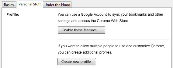 Google Chrome multiple profiles
