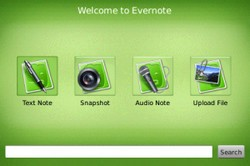 Evernote for BlackBerry screenshot
