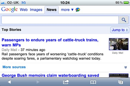 Google News for iPhone