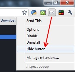 google chrome hide extension button