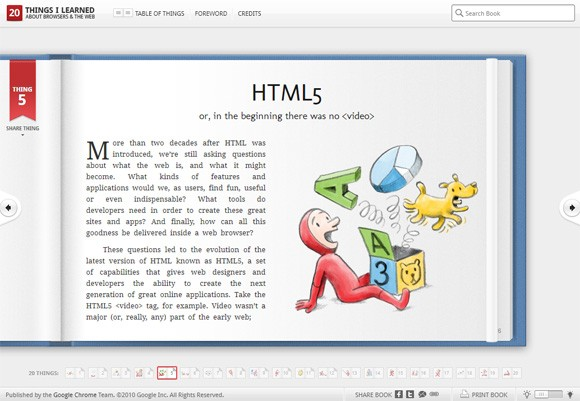 20 Things, HTML5 guide to the Web