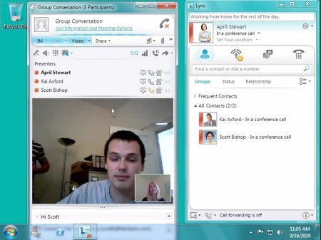 microsoft lync 2010 conferencing screenshot