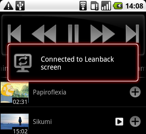 YouTube Remote Android Leanback