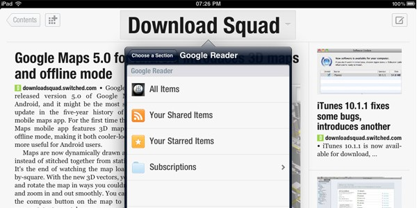 Flipboard Google Reader integration