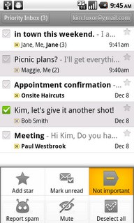 Gmail 2.3.2 for Android screenshot