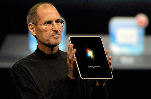 Windows tablet, by Jobs