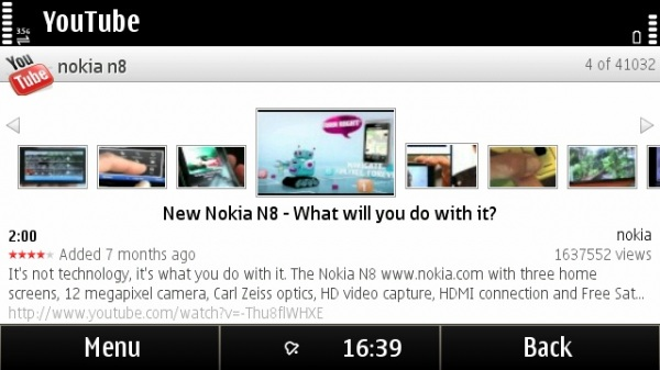 YouTube 2.4.10 for Symbian screenshot