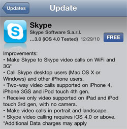 Skype for iOS 3