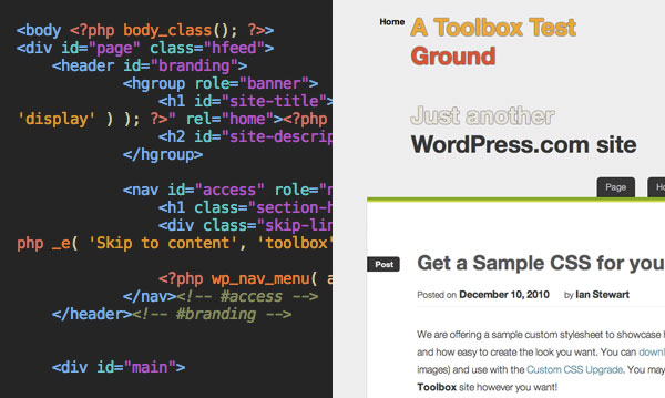 WordPress HTML5 Toolbox theme