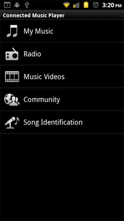 motorola connected music player android