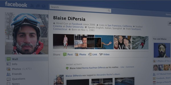 Facebook new profile layout