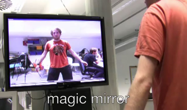 Kinect magic mirror skeleton