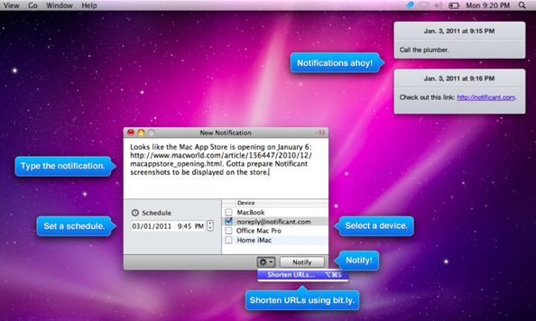 notificant mac screenshot