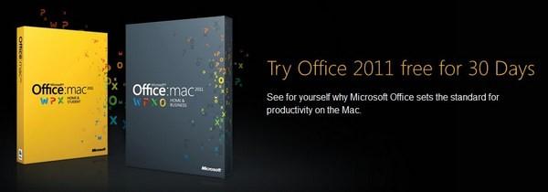 Microsoft Office for Mac 2011 trial