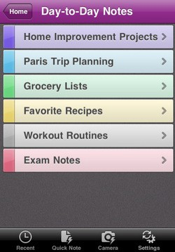 Microsoft OneNote Mobile for iOS