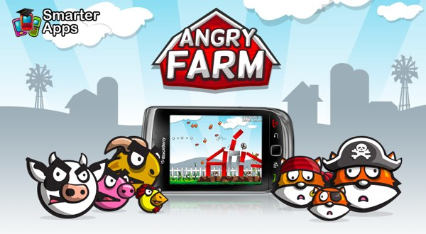 angry farm angry birds knockoff for blackberry
