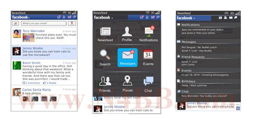 Facebook 2.0 for BlackBerry