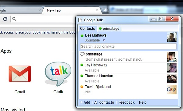 google talk web app for chrome