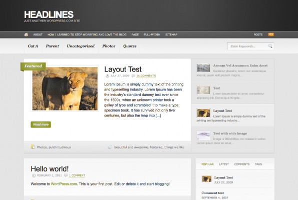 Headlines theme for WordPress.com blogs
