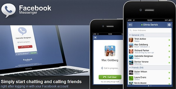 facebook voice chat iphone app