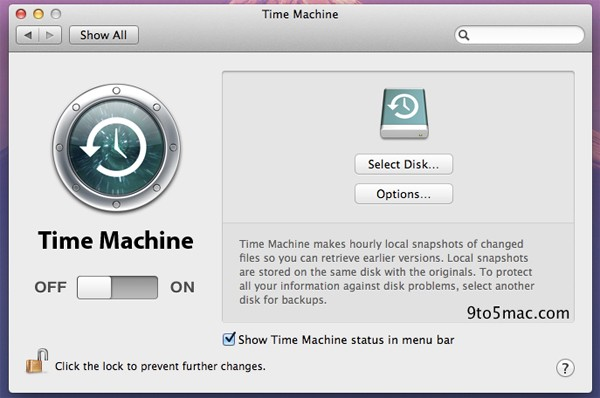 OS X Lion Time Machine local snapshots