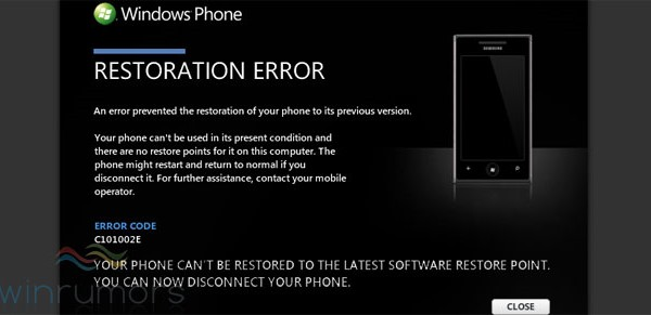 Microsoft pulls WP7 update from Samsung phones
