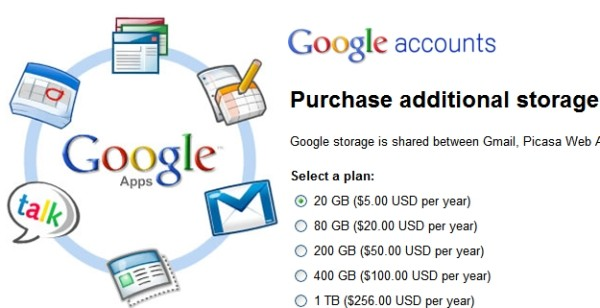 google apps storage