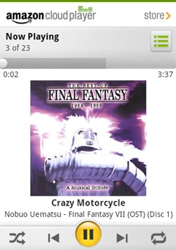 android now playing smaller Amazon Cloud Player review: functional, not mind blowing, and still US only