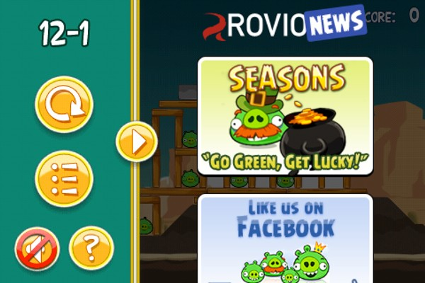 Angry Birds now includes ads