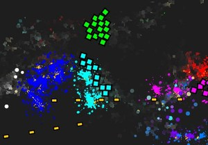 BattlePaint is an addictive geometric shooter game