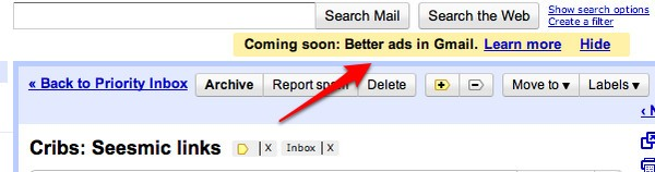 Gmail better ads