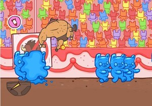 Burrito Bison is a simple game for gummy bear lovers
