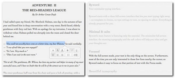 Byword for Mac is a simple, minimalist app for writing
