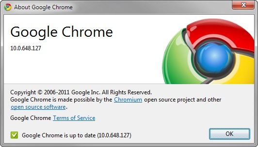 Chrome stable update