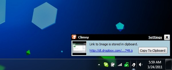 climsy share images dropbox