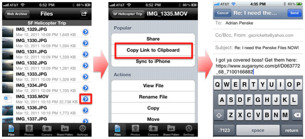 SugarSync 2.2 for iOS public sharing