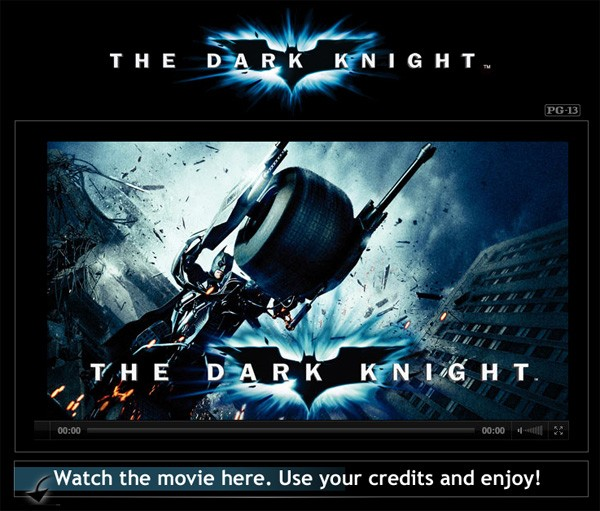 The Dark Knight rental on Facebook