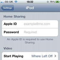 iTunes Home Sharing iOS 4.3