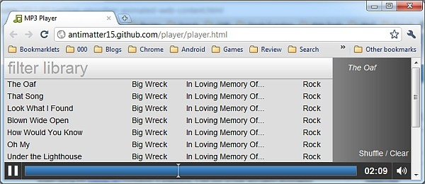 html5 browser mp3 player HTML5 MP3 player lets you listen to your music library inside your browser