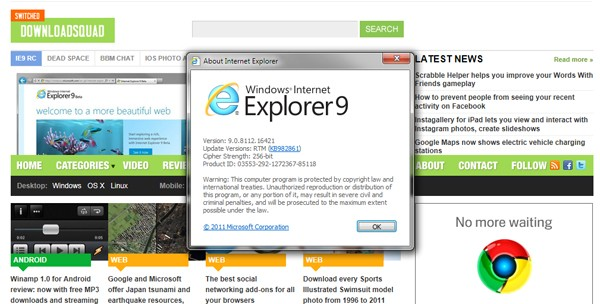 Internet Explorer 9 final build released