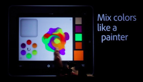 New Photoshop for iPad color mixer