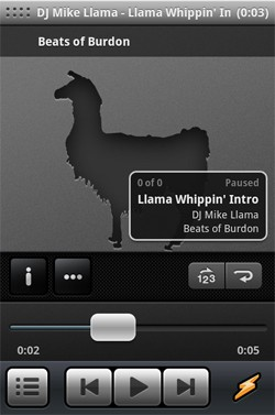 Winamp for Android: it really whips the llama's ass