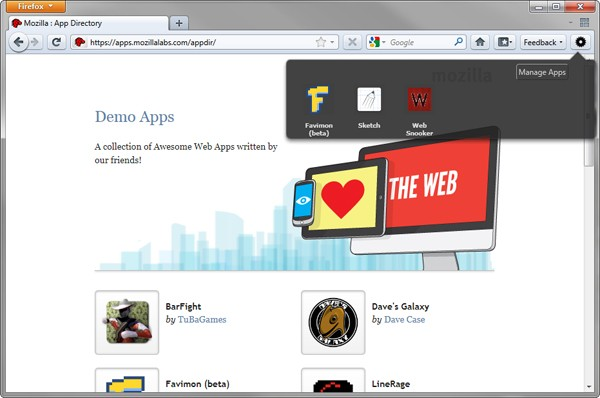 Mozilla's Open Web App Store