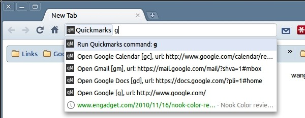 bookmark keywords google chrome