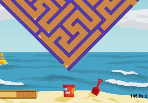 Sand Trap is a fun and difficult physics maze game