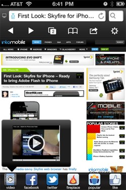 Skyfire 3 for iPhone