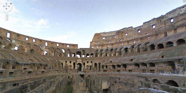 Google Street View Colosseum, Rome, Italy