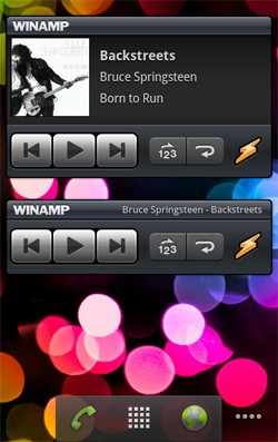 Winamp widgets