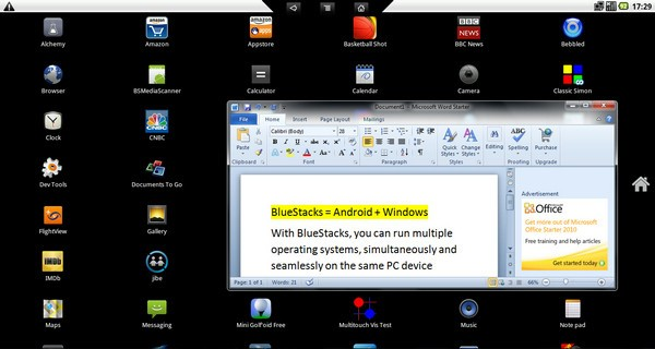 BlueStacks Android on Windows