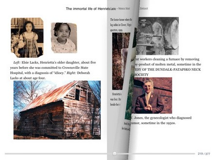 Google Books for iPad landscape view